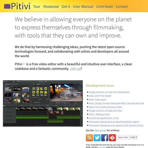 PiTiVi, an open source video editor for Linux