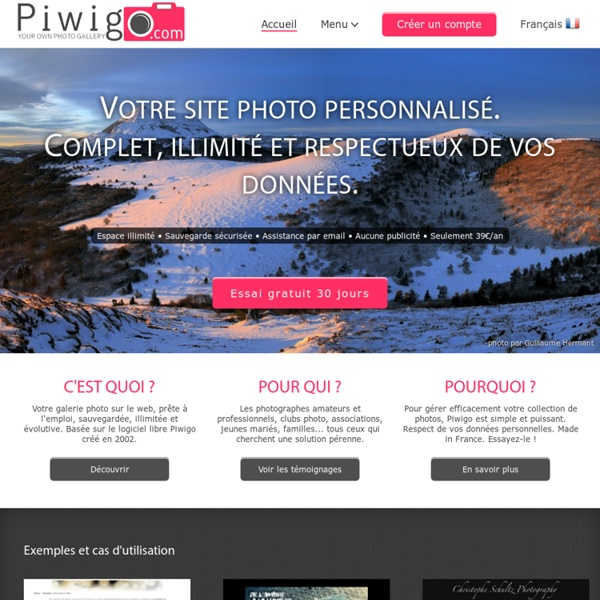 Piwigo.com, créez votre galerie photo - Partage de photos