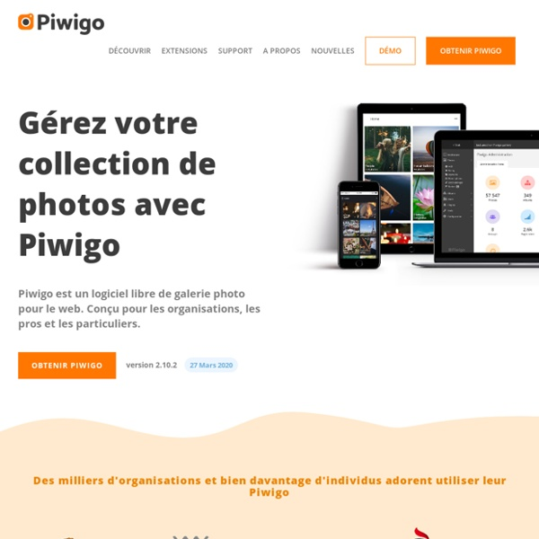 Piwigo est un logiciel de galerie photo pour le web