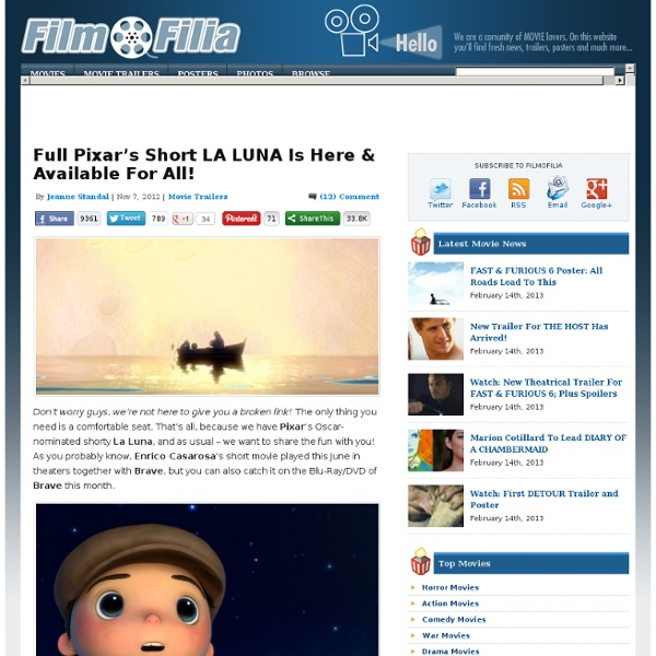 Full Pixar's Short LA LUNA Is Here & Available For All!