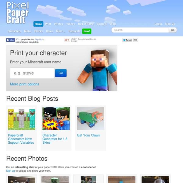 Pixel Papercraft | Pearltrees: www.pearltrees.com/u/54834696-pixel-papercraft
