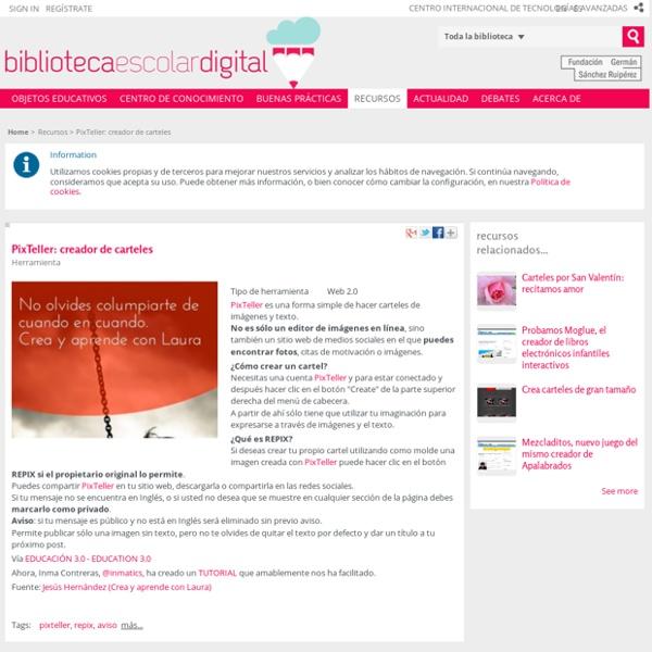 PixTeller: creador de carteles - Biblioteca Escolar Digital