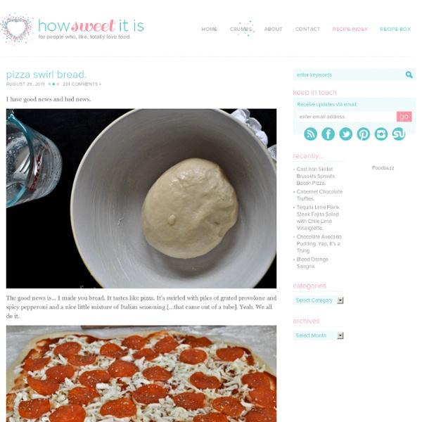 Pizza Swirl Bread