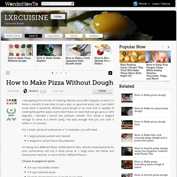 How to Make Pizza Without Dough