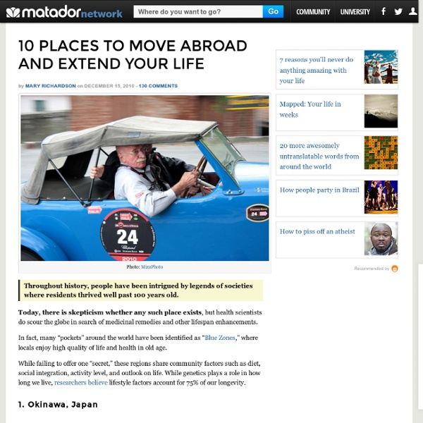 10 Places to Move Abroad and Extend Your Life - StumbleUpon