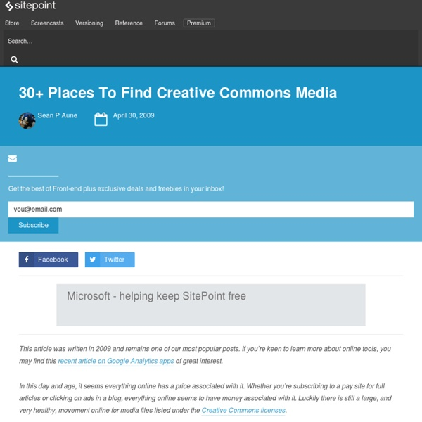 30+ Places To Find Creative Commons Media