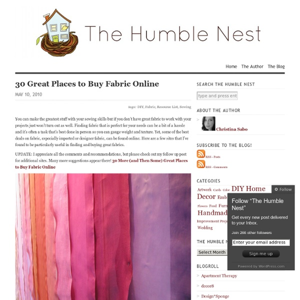 30 Great Places to Buy FabricOnline - The Humble Nest