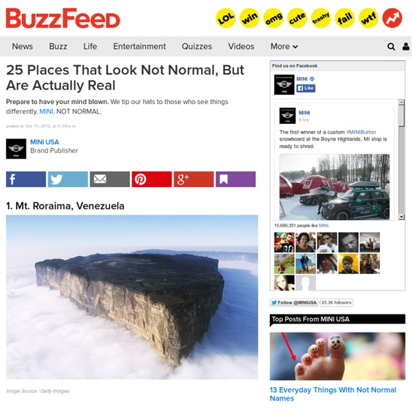 25 Places That Look Not Normal, But Are Actually Real