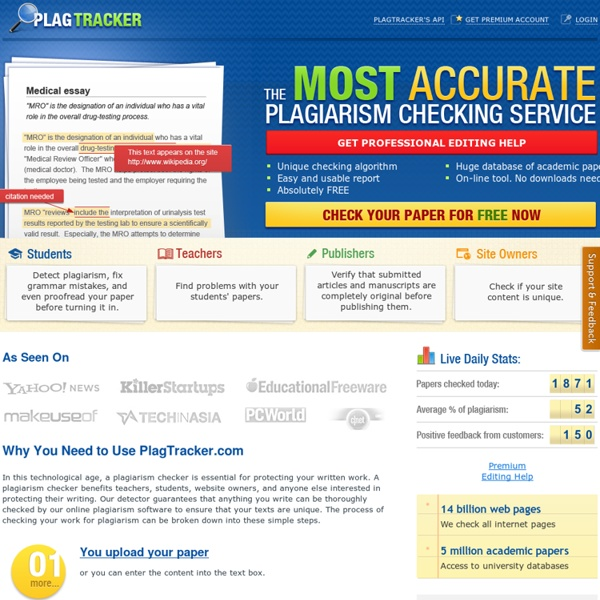 Top 8 Plagiarism Detector Tools for Teachers ~ Educational