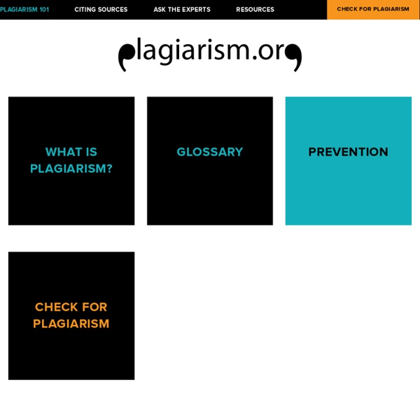 Overview — Plagiarism.org - Best Practices for Ensuring Originality in Written Work