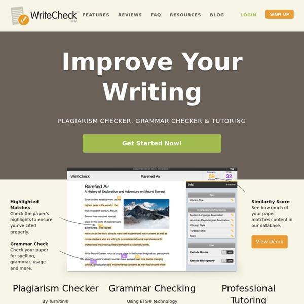 Plagiarism Checking for Students