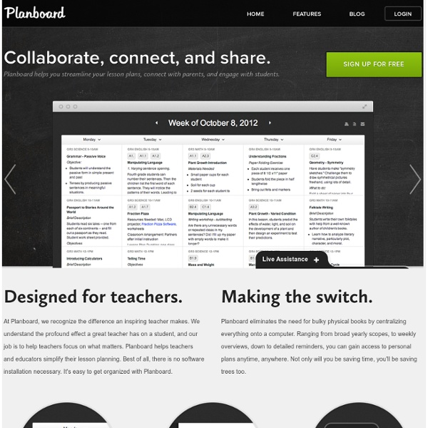 Planboard — Lesson planning made easy for teachers and educators