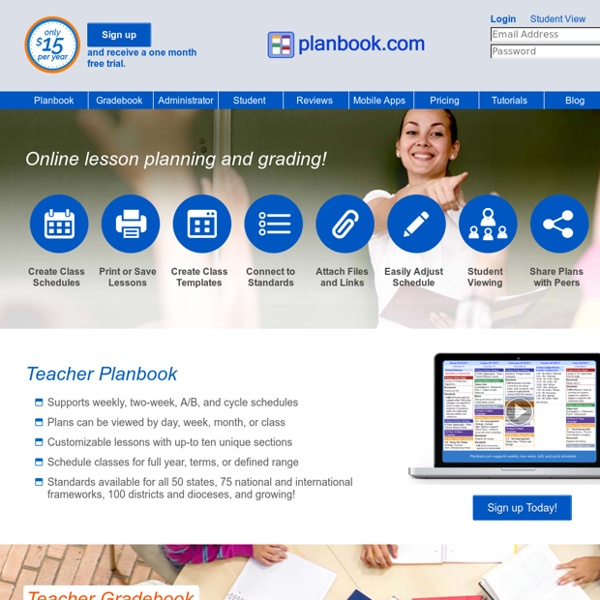 Planbook.com - Online Teacher Lesson Planning