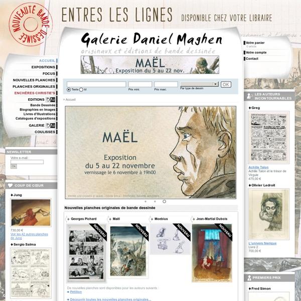 Galerie Daniel Maghen - Planches et dessins originaux de Bande Dessinée