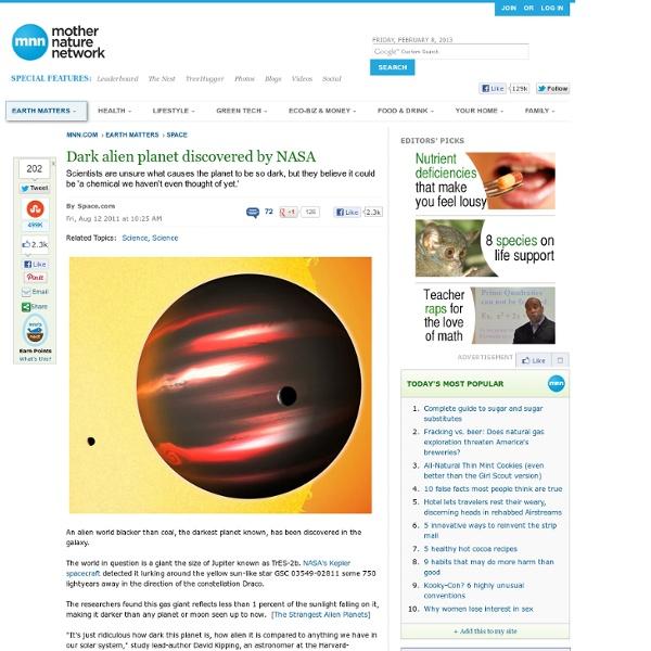 Dark alien planet discovered by NASA