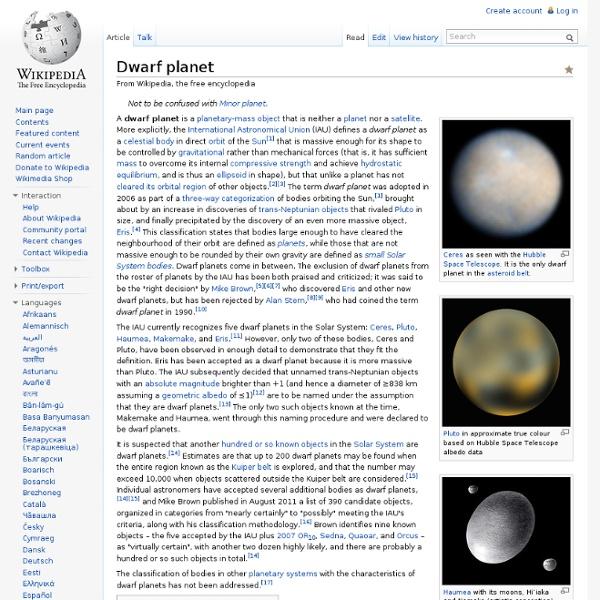Dwarf planet