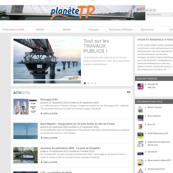 Planète TP : tout sur les Travaux publics