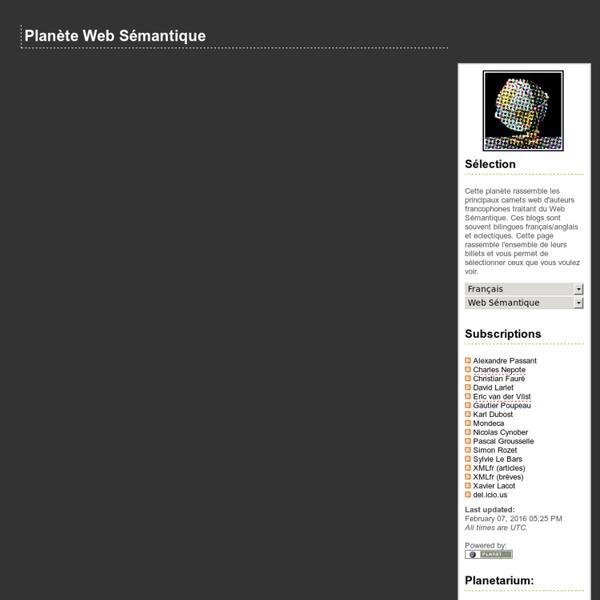 Planète Web Sémantique