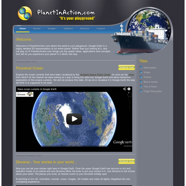 PlanetInAction.com - The planet is your playground