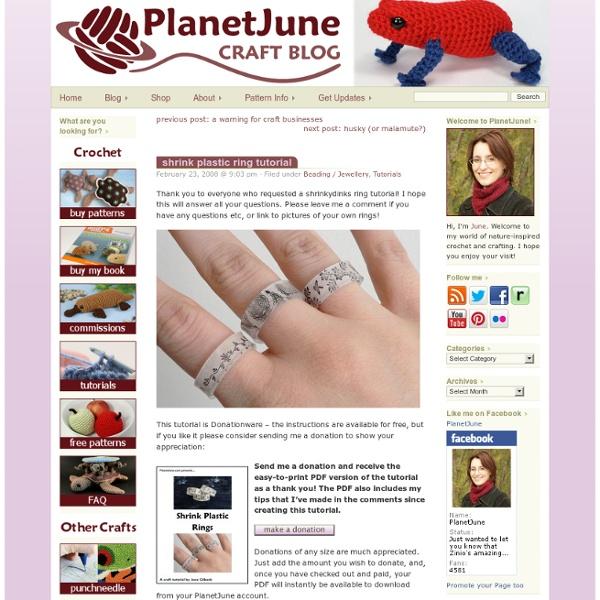 Shrink plastic ring tutorial