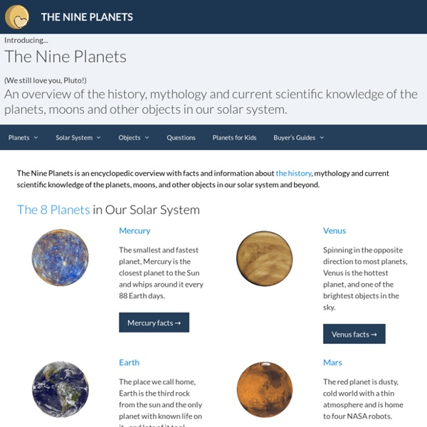 The Nine Planets of The Solar System