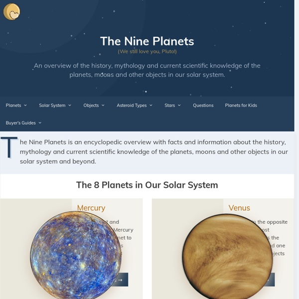 The Nine Planets Solar System Tour