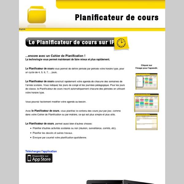 Planificateur de cours