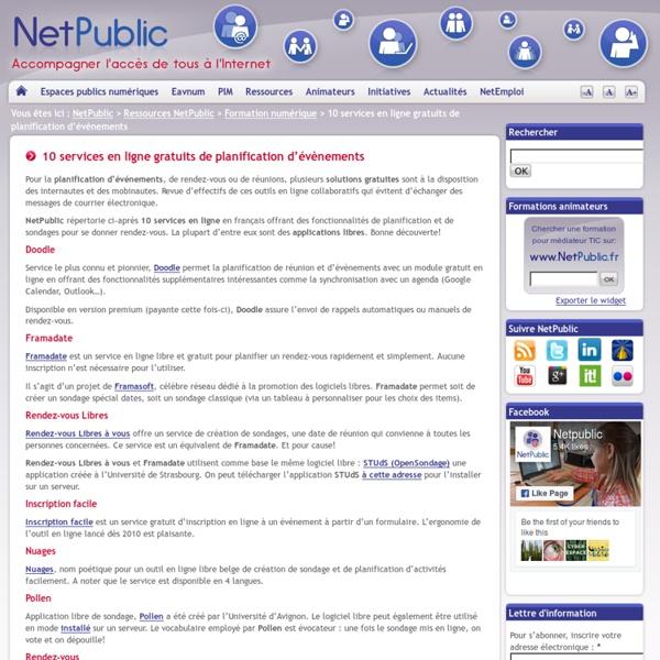 10 services en ligne gratuits de planification d'évènements
