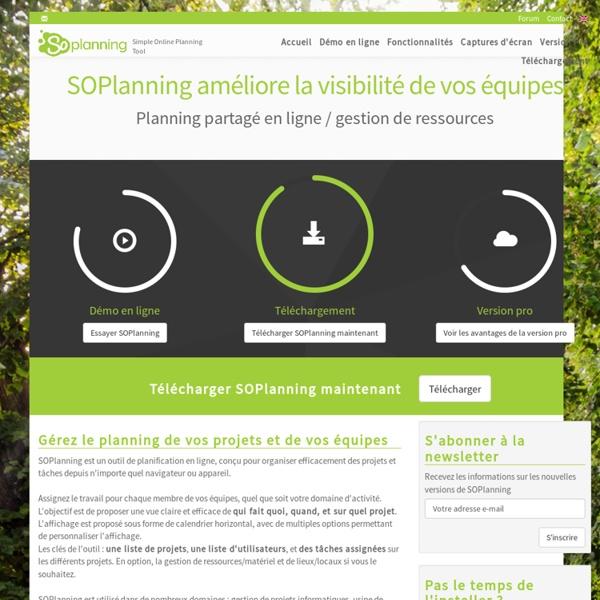 SO Planning - Outil gratuit de gestion de projet / production en ligne simplifié, planning en ligne visuel intuitif