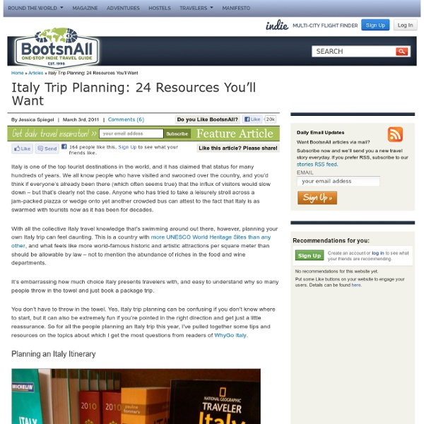Italy Trip Planning: 24 Resources You'll Want