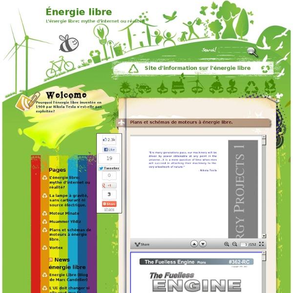 Plans et schémas de moteurs à énergie libre.