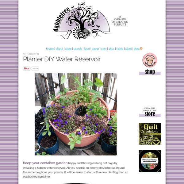 Planter DIY Water Reservoir (Dabbletree)