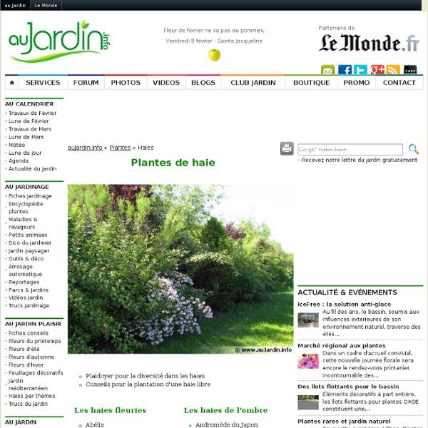 L'encyclopédie des arbustes pour les haies