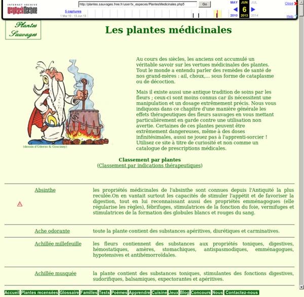 Plantes Sauvages - Base de données
