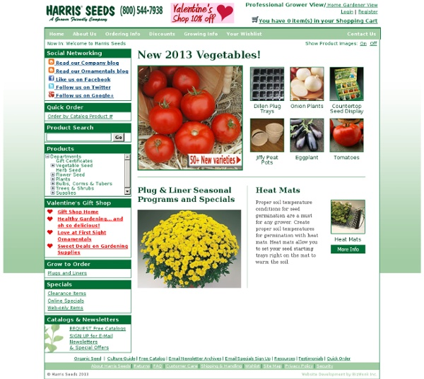 Plants, Bulbs & Seeds for Growers & Grower Supplies