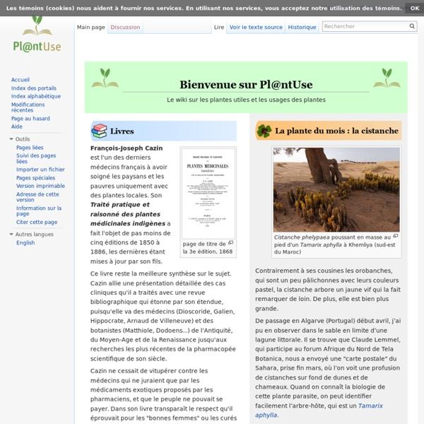 Plantes utiles et leurs usages - PlantUse
