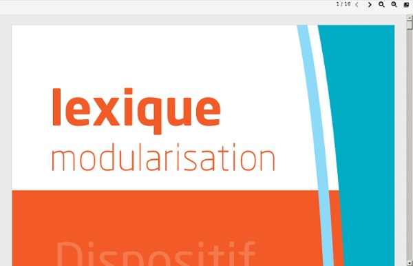 Lexique dispositif modulaire - PDL 2007
