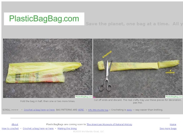 Plastic Bag Bags are where its at. - StumbleUpon