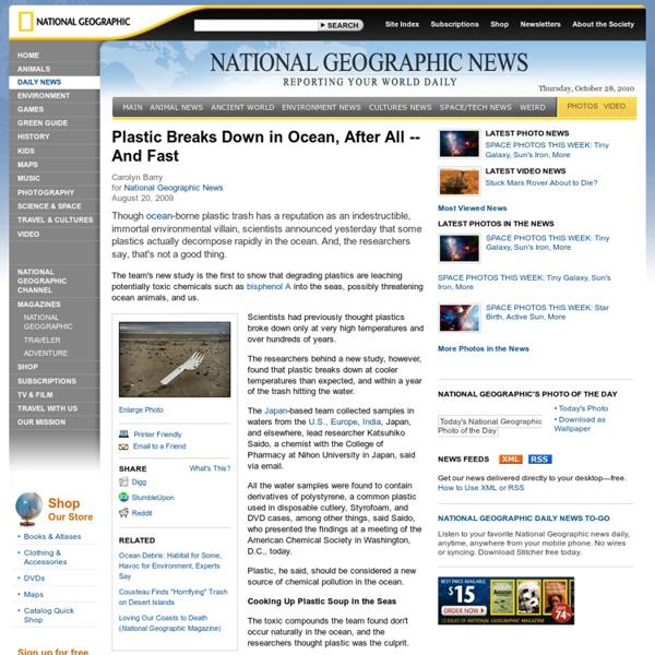 Plastic Breaks Down in Ocean, After All