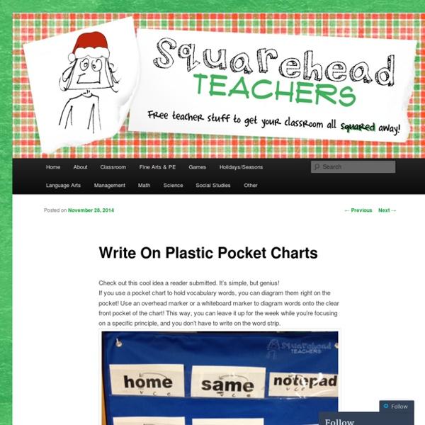Write On Plastic Pocket Charts