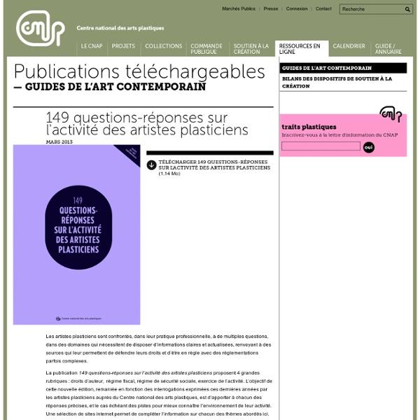 149 questions-réponses sur l'activité des artistes plasticiens
