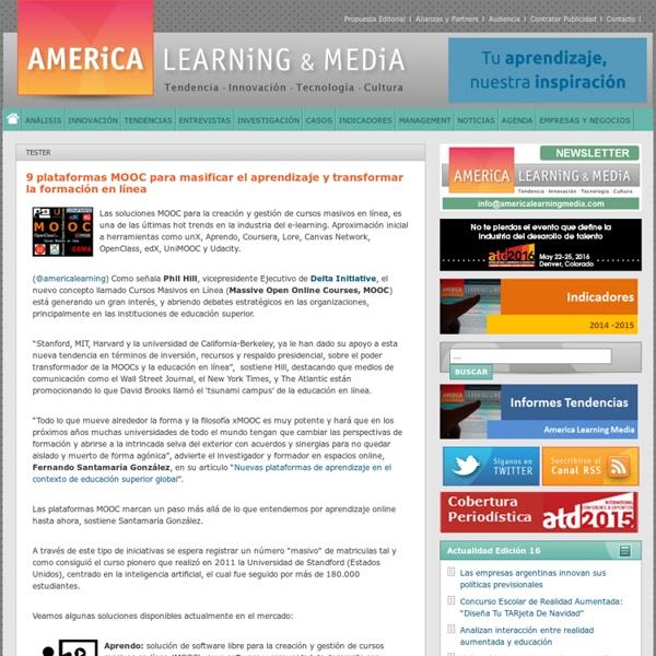 9 plataformas MOOC para masificar el aprendizaje y transformar la formación en línea