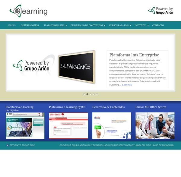 Plataformas de elearning, contenidos de elearning — eLearning Grupo Arion