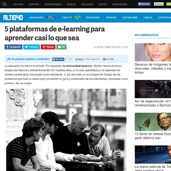 5 plataformas online para aprender casi lo que sea