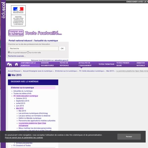 La première plateforme Open Data ministérielle