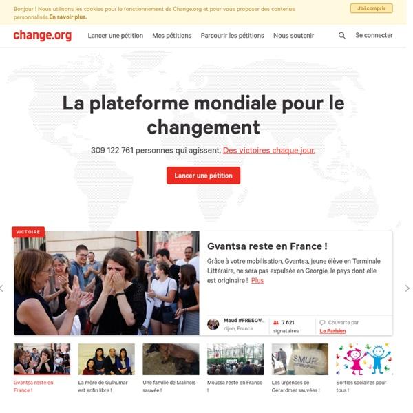 La plateforme mondiale pour le changement