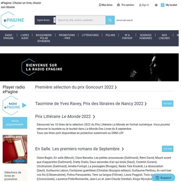 Librairie ePagine, Livres numériques
