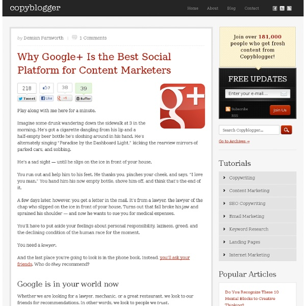 Why Google+ Is the Best Social Platform for Content Marketers