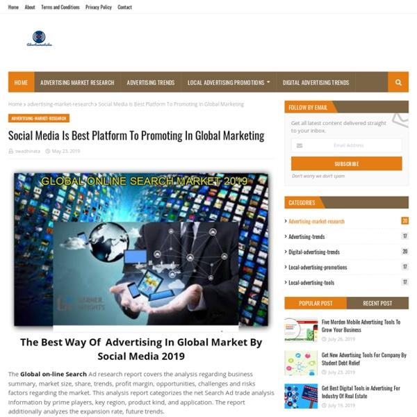 Social Media Is Best Platform To Promoting In Global Marketing
