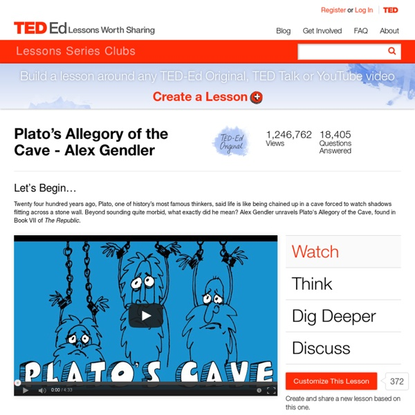 the value of knowledge in platos allegory of the cave Plato's the allegory of the cave is, one of the philosophical writings in the form of allegory an allegorical writing is the type of writing having two levels of.